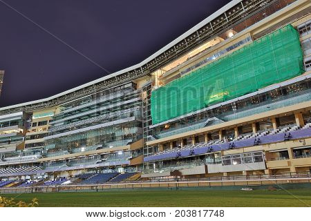 The  Happy Valley Racecourse In Hong Kong