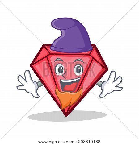 Elf diamond character cartoon style vector illustration