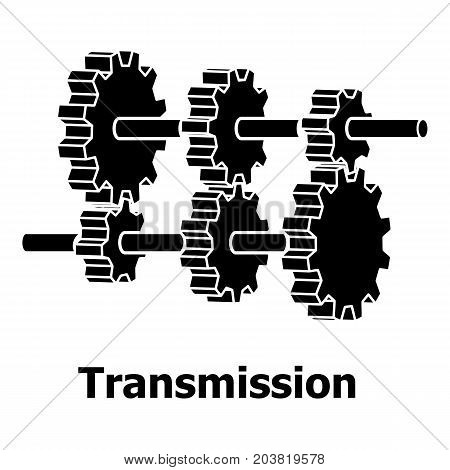 Transmission icon. Simple illustration of transmission vector icon for web