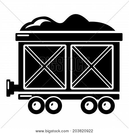 Railway wagon icon . Simple illustration of railway wagon vector icon for web design isolated on white background