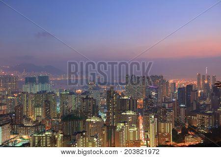 the Kowloon Hong Kong Skyl ine 2016
