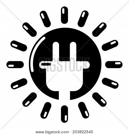 Unplugged electrical plug icon. Simple illustration of electrical plug vector icon for web design
