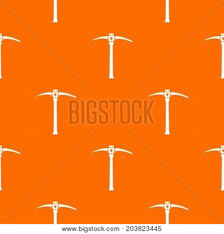 Pick pattern repeat seamless in orange color for any design. Vector geometric illustration