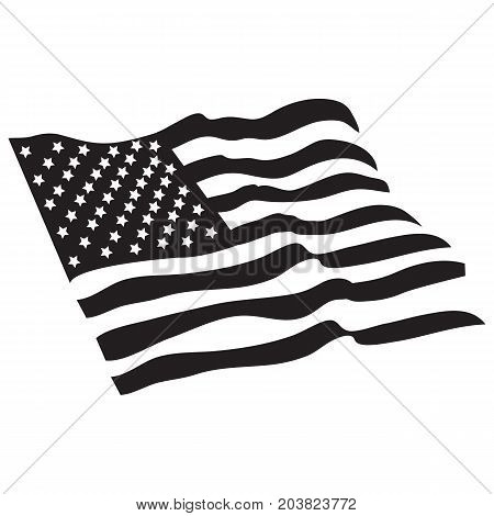 American Flag Black Vector celebration country day democracy