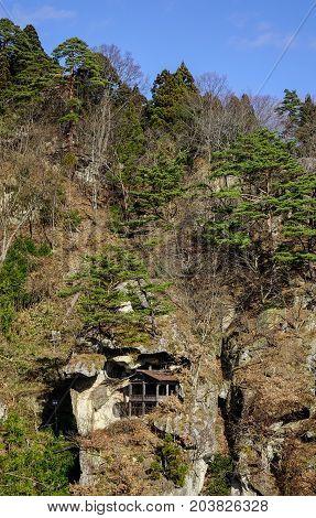 Mountain Scenery Of Yamadera, Japan