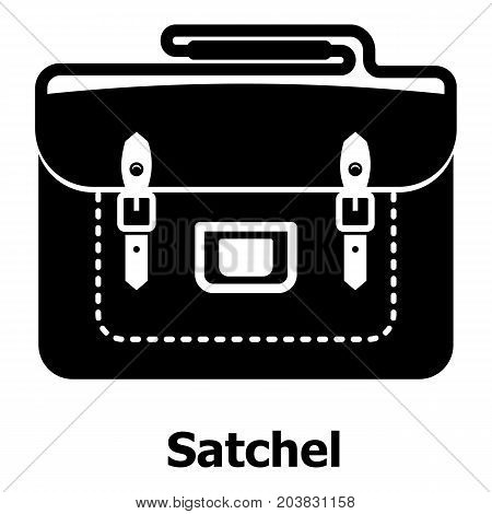 Satchel bag icon. Simple illustration of satchel bag vector icon for web