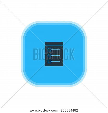 Beautiful Web Element Also Can Be Used As Board Element.  Vector Illustration Of Checklist Icon.