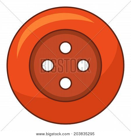 Red cloth button icon. Cartoon illustration of red cloth button vector icon for web