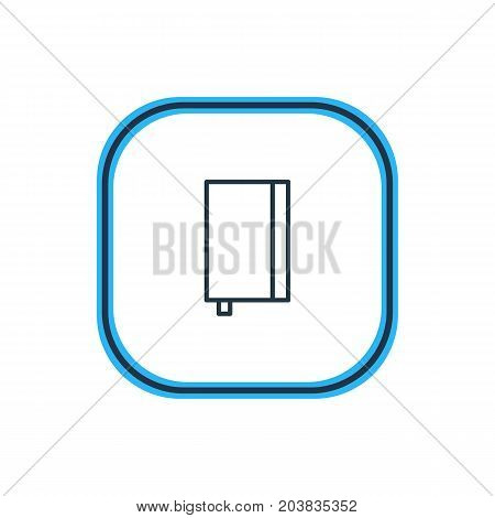 Beautiful Instruments Element Also Can Be Used As Copybook Element.  Vector Illustration Of Notebook Outline.