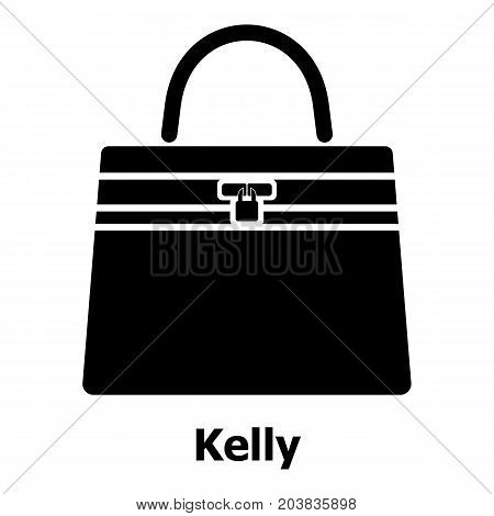 Kelly bag icon. Simple illustration of kelly bag vector icon for web
