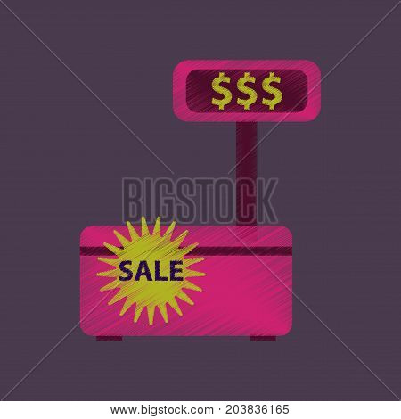 flat shading style icon cash machine sale discounts