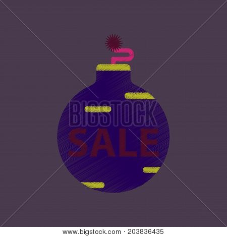 flat shading style icon Christmas Ball sale