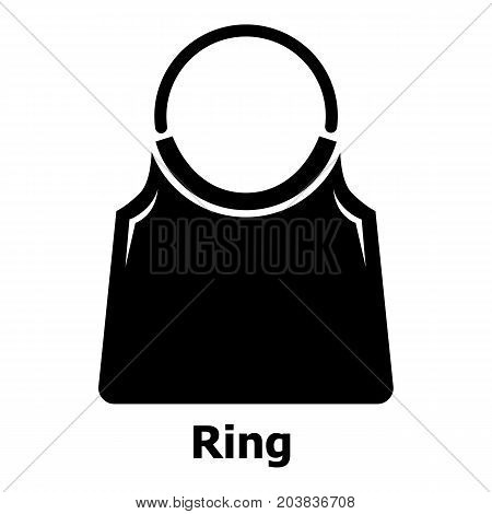 Ring bag icon. Simple illustration of ring bag vector icon for web