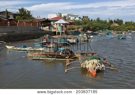 Fishing Boats On A River