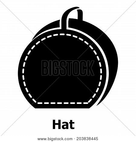 Hat bag icon. Simple illustration of hat bag vector icon for web