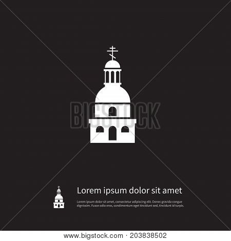 Catholic Vector Element Can Be Used For Faith, Cathedral, Catholic Design Concept.  Isolated Cathedral Icon.