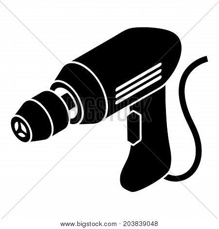 Corded drill icon. Simple illustration of corded drill vector icon for web design isolated on white background