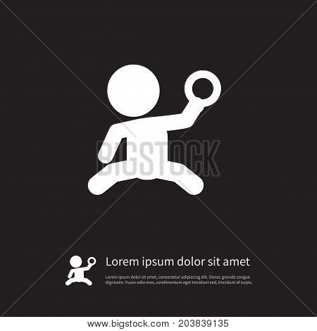 Tot Vector Element Can Be Used For Tot, Played, Baby Design Concept.  Isolated Played Icon.