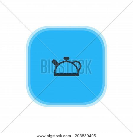 Beautiful Kitchenware Element Also Can Be Used As Teakettle Element.  Vector Illustration Of Teapot Icon.