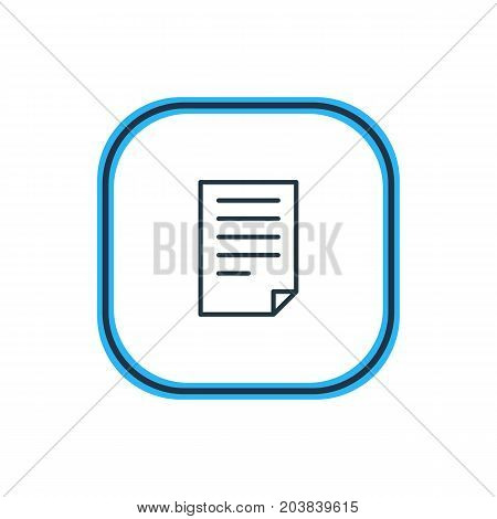 Beautiful Paper Element Also Can Be Used As Document Element.  Vector Illustration Of File Outline.