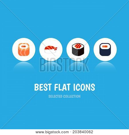 Flat Icon Maki Set Of Maki, Japanese Food, Gourmet And Other Vector Objects