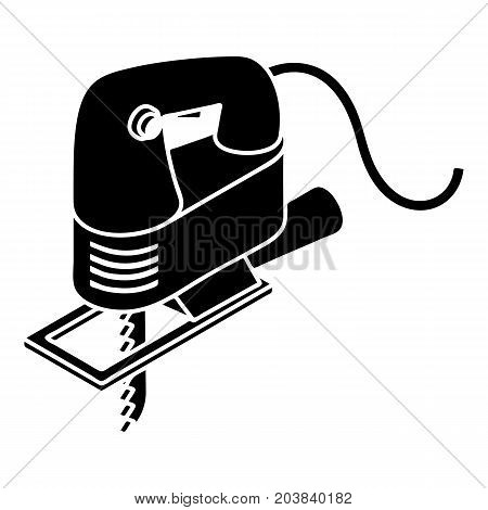 Corded jig saw icon. Simple illustration of corded jig saw vector icon for web design isolated on white background