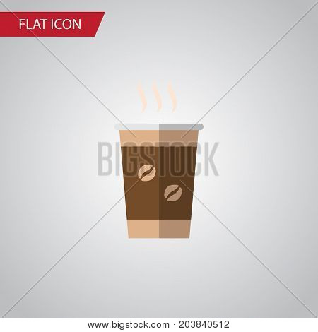 Cappuccino Vector Element Can Be Used For Cappuccino, Coffee, Cup Design Concept.  Isolated Coffee Flat Icon.