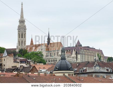 panoramic view of Budapest the capital city of Hungary