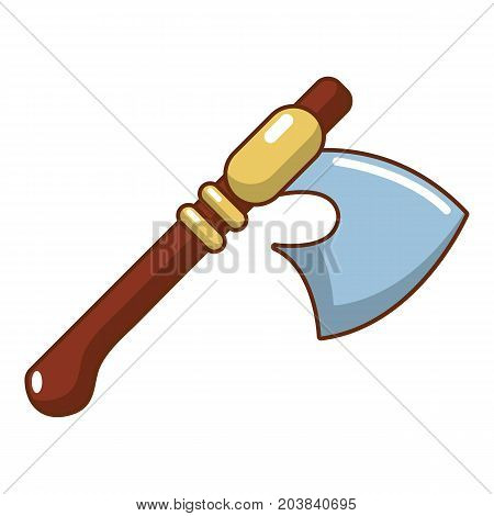 Medieval ax weapon icon. Cartoon illustration of ax weapon vector icon for web