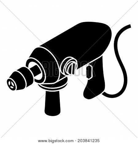 Big corded drill icon. Simple illustration of big corded drill vector icon for web design isolated on white background