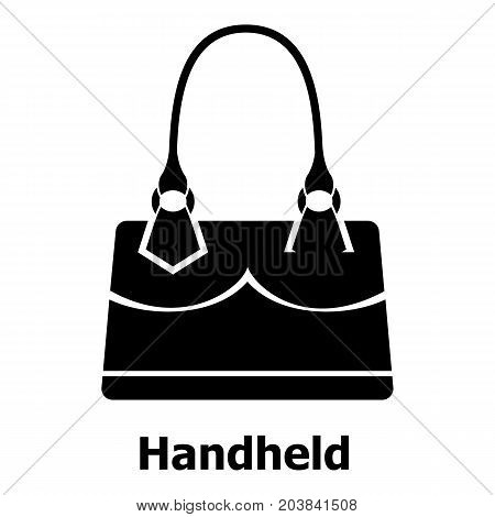 Handheld bag icon. Simple illustration of handheld bag vector icon for web