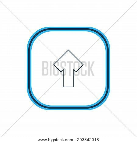 Beautiful Interface Element Also Can Be Used As Upward Element.  Vector Illustration Of Arrow Outline.