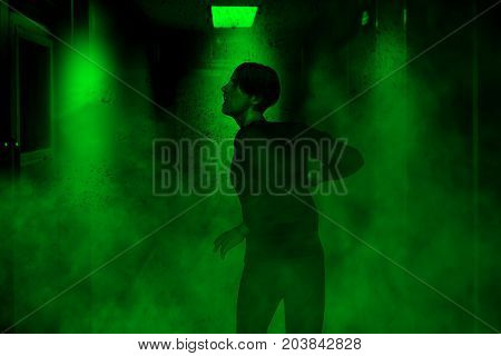 3d illustration of a man lost in haunted houseHorror fiction for book cover ideas