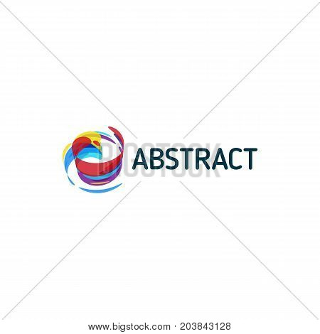 Twist colorful abstract shape, paint of inspiration art. Vector logo design template