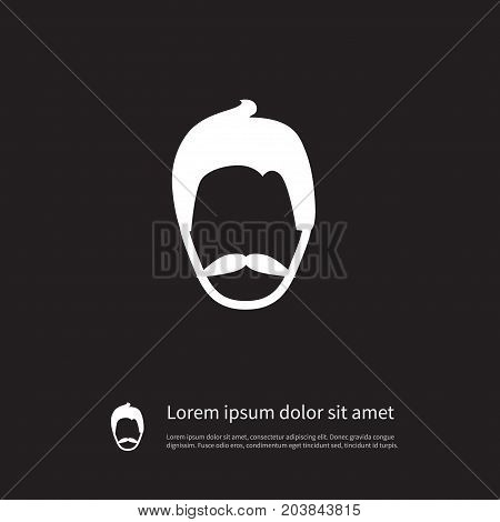 Moustache Vector Element Can Be Used For Moustache, Gentleman, Mister Design Concept.  Isolated Mister Icon.