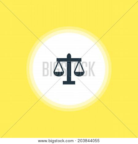 Beautiful Check-In Element Also Can Be Used As Scales Element.  Vector Illustration Of Law Icon.