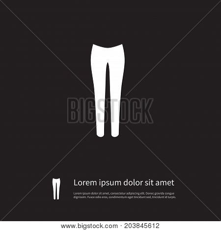 Leggings Vector Element Can Be Used For Leggings, Pantaloons, Pants Design Concept.  Isolated Pantaloons Icon.