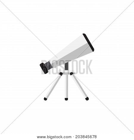 Scope Vector Element Can Be Used For Scope, Telescope, Glass Design Concept.  Isolated Telescope Flat Icon.