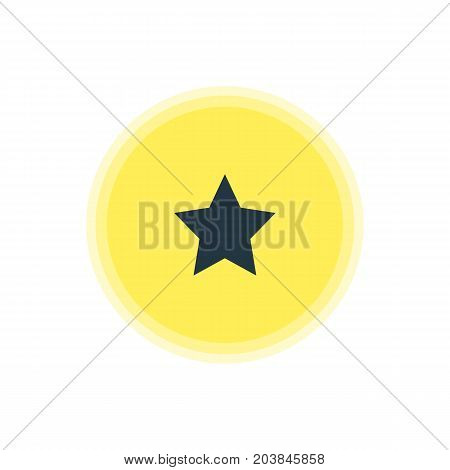 Beautiful Online Element Also Can Be Used As Bookmark Element.  Vector Illustration Of Star Icon.