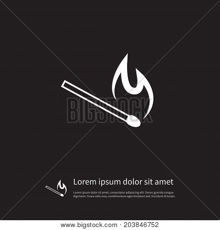 Matchstick Vector Element Can Be Used For Safety, Matches, Powder Design Concept.  Isolated Safety Icon.