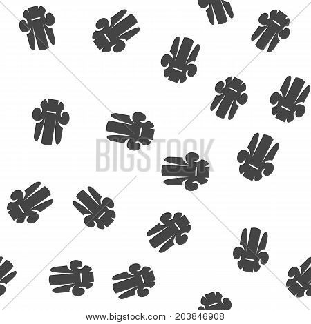 Armchair seamless pattern. Vector illustration for backgrounds