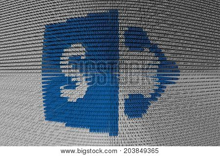 SharePoint is presented in the form of binary code 3D illustration