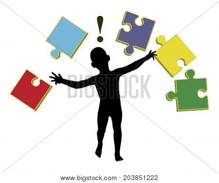 Teaching Babies. Early learning activities with puzzles to make infants smarter