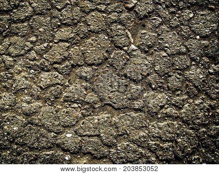 Asphalt. Asphalt texture. Old cracked asphalt texture background