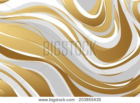 Abstract marbling texture. Gold, gray, white, Vector