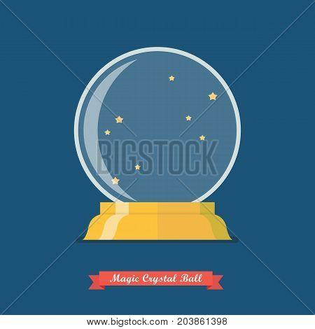 Future crystal ball or Magic crystal ball. Vector illustration