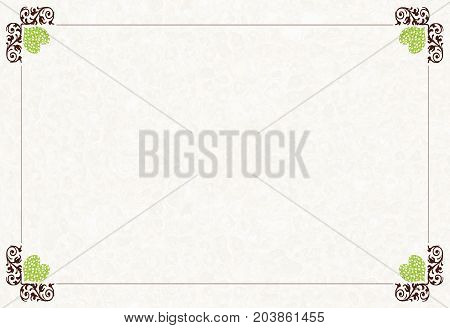 Decorative Background For Greetings, With Hearts And Squiggles