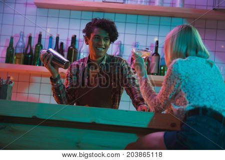Smiling African American Barman