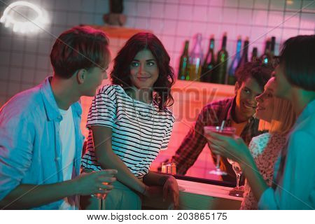 Friends With Drinks In Bar