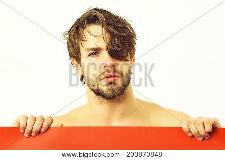 Bearded Man, Caucasian Sexy Sad Macho
